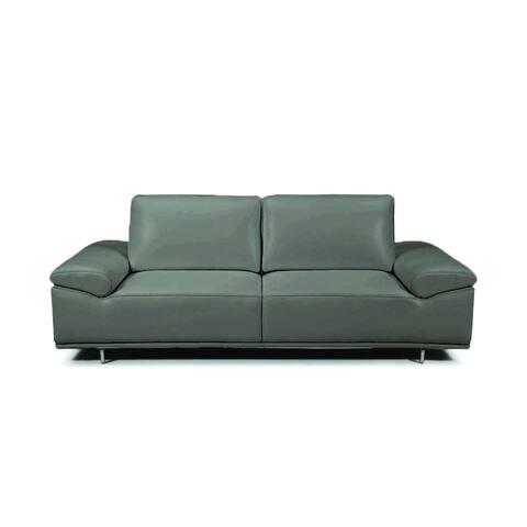 Roxanne Dark Grey Leather Sofa