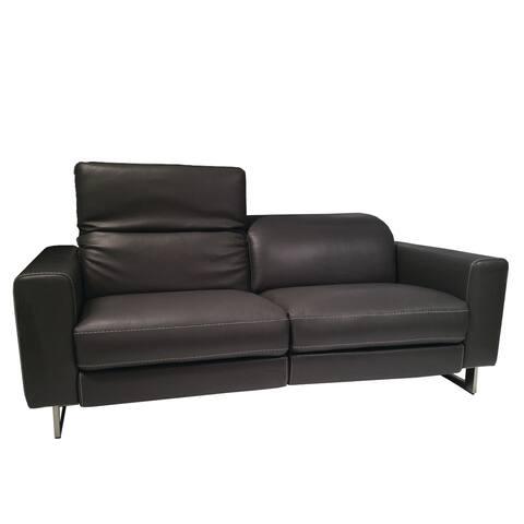 Lucia Dark Grey Leather Sofa