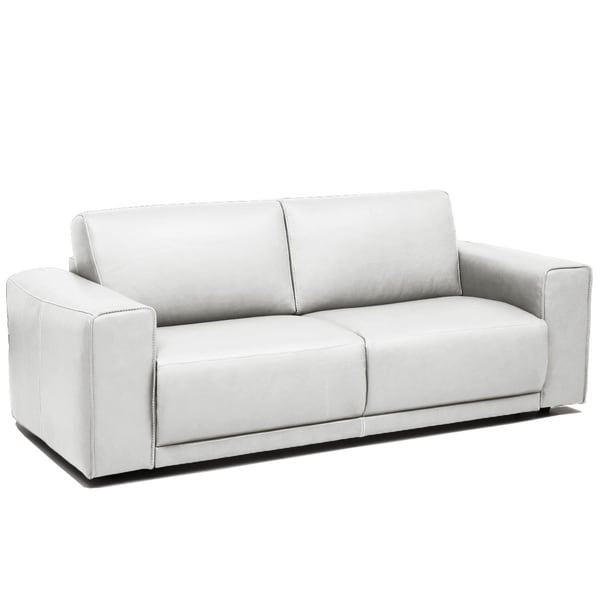 Eden White Faux Leather Sofa with Pull-out Daybed
