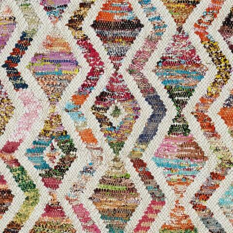 Miranda Haus Handcrafted Zartan Recycled Cotton Fringe Area Rug