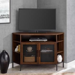 """The Gray Barn Kujawa 48"""" Mesh Door Corner TV Console - 48 x 16 x 32H"""