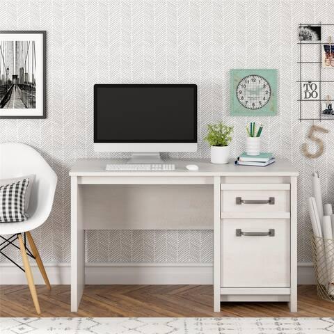 Porch & Den Simmental Ivory Finish 2-drawer Computer Desk