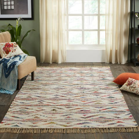 Miranda Haus Handmade Native Reversible Recycled Cotton Area Rug