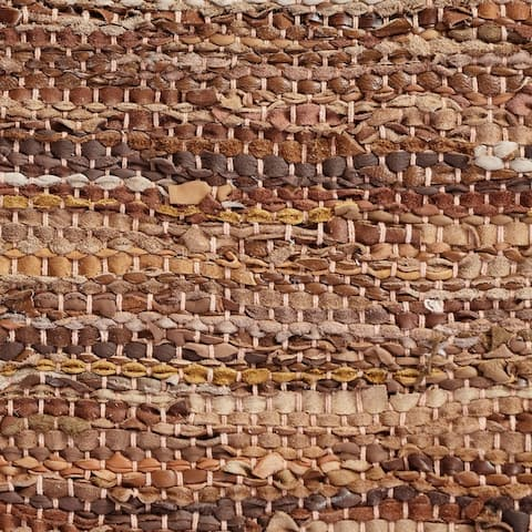 Miranda Haus Hand-Woven Firma Leather, Cotton, and Jute Area Rug