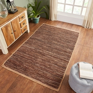 Link to Miranda Haus Hand-Woven Firma Leather, Cotton, and Jute Area Rug Similar Items in Rustic Rugs