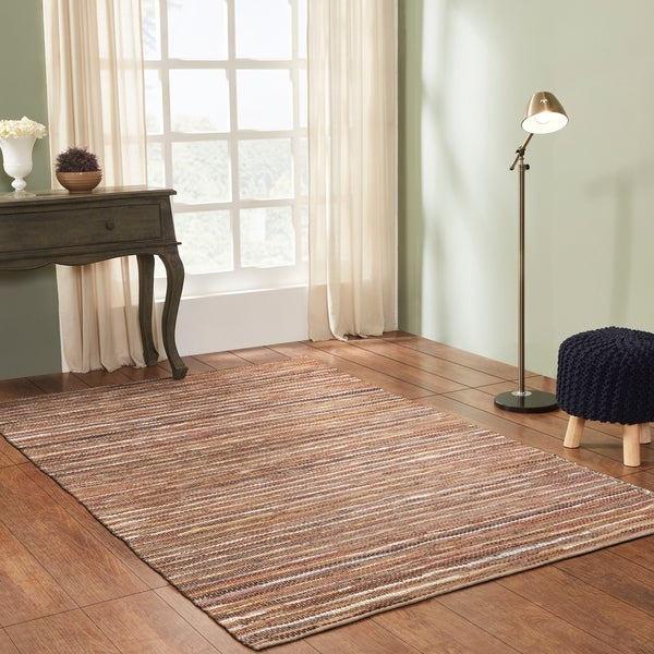 Miranda Haus Hand-Woven Enisle Leather and Cotton Area Rug. Opens flyout.