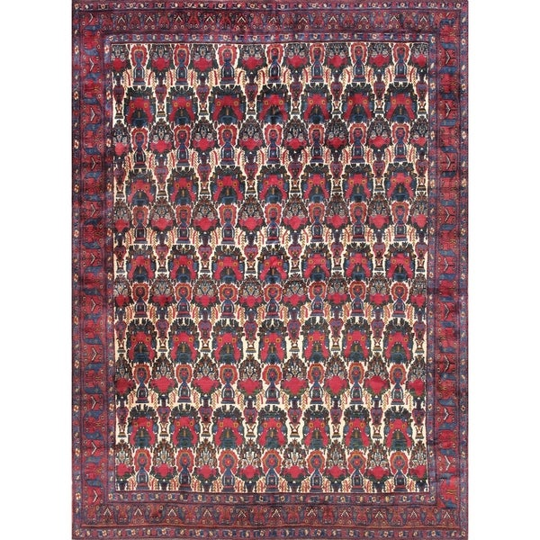 """Pasargad Home Antique Bidjar Collection Hand-Knotted Wool Area Rug-8'7"""" X 11'8"""" - 8' 7"""" X 11' 8"""""""