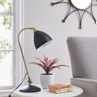 Link to Strick & Bolton Tappan Midcentury Modern Black Metal Table Lamp Similar Items in Table Lamps