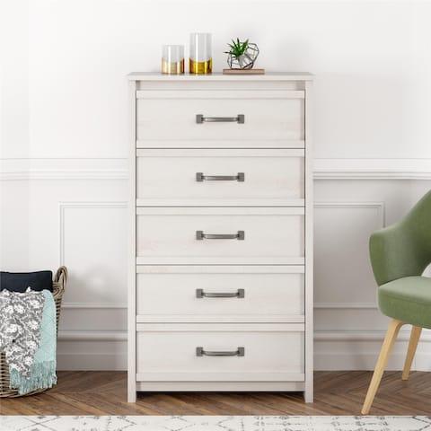 Porch & Den Simmental Ivory Finish 5-drawer Dresser