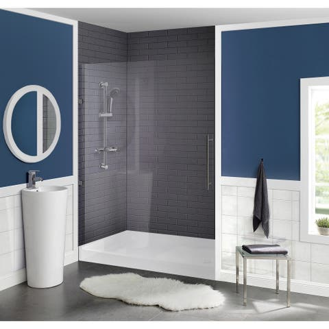 "Voltaire 60"" x 34"" Acrylic White, Single-Threshold, Left Side Drain, Shower Base"