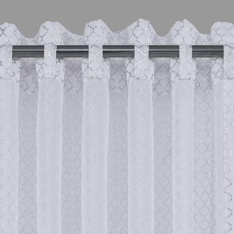 Five Queens Court Anderson Metallic Window Sheer Panel