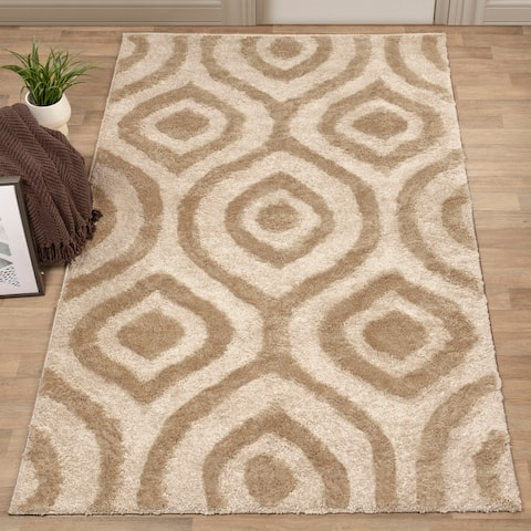 Miranda Haus Joy Oversized Geometric Area Rug