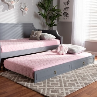 Link to Taylor & Olive Bromeliad Traditional Wood Trundle Similar Items in Kids' & Toddler Furniture