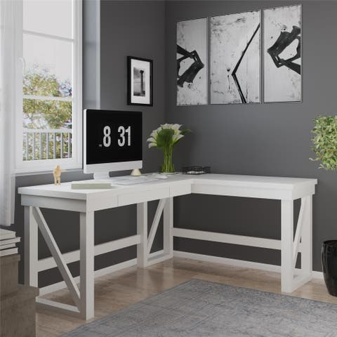 The Gray Barn Canyon Crossing Lift Top L-shaped Desk