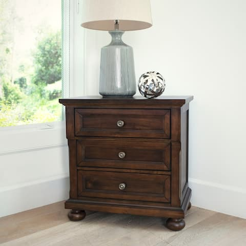 Abbyson Hartford Brown Nightstand