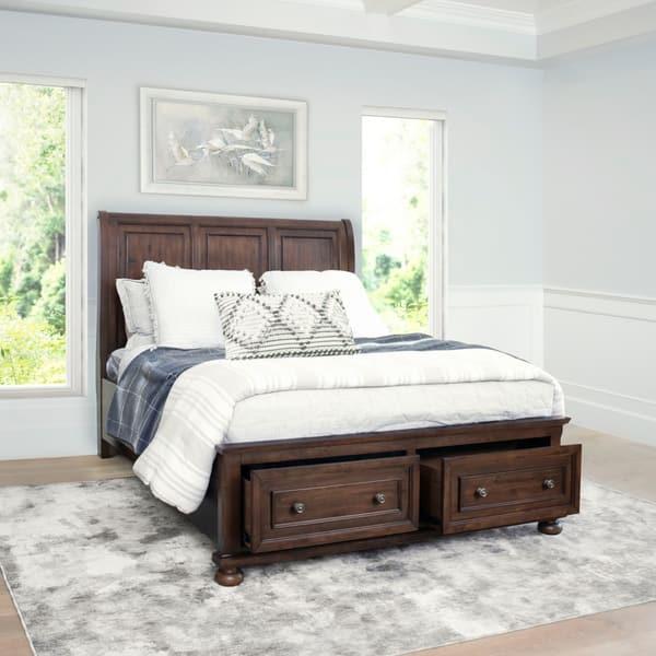 Abbyson Hartford Brown Storage Bed On Sale Overstock 28758505