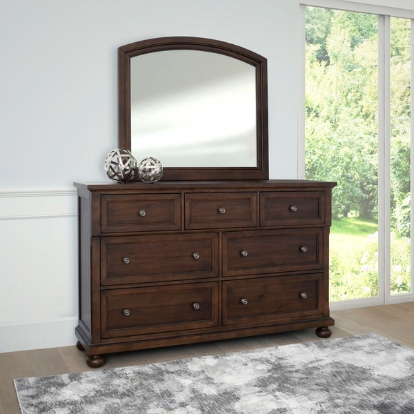 Abbyson Hartford Brown Dresser and/or Mirror