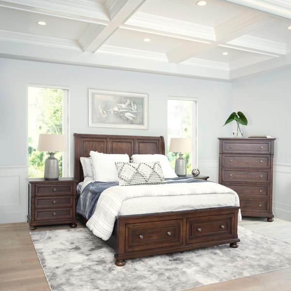 Abbyson Hartford 4 Piece Bedroom Set Overstock 28758508