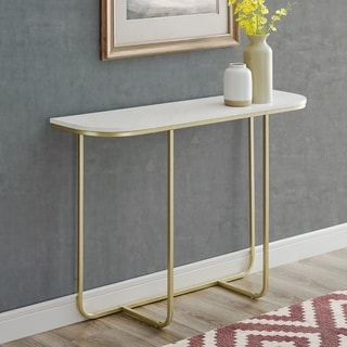 "Silver Orchid 44"" Modern Curved Entry Table - 44 x 12 x 30H"