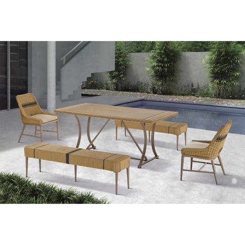 Madison Park Panorama Natural Outdoor Patio Dining Table