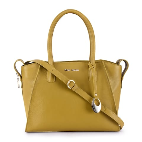 Phive Rivers Women's Leather Yellow Hand Bag