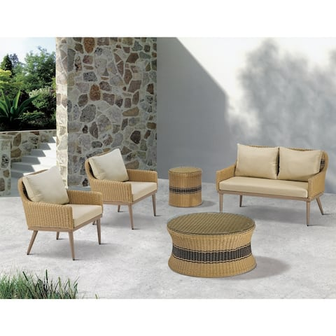 Madison Park Panorama Natural Outdoor Patio Coffee Table
