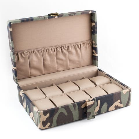 Caddy Bay Collection Camo Military Watch Box