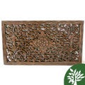 Reclaimed Teak Wood Lotus Carving (Thailand)