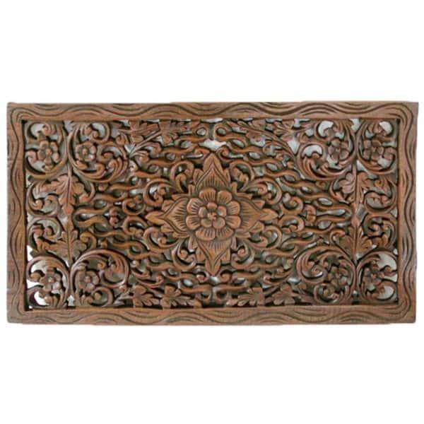 Shop Handmade Reclaimed Teak Wood Lotus Carving Thailand