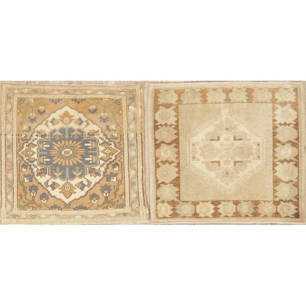 Oriental Vintage Tribal Hand Knotted Traditional Turkish Area Rug - 2'0''x 1'10''