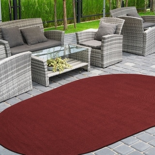 Miranda Haus Nantes Braided Solid Reversible Indoor/Outdoor Area Rug