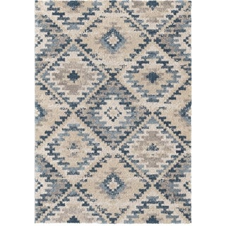 "Orian Grand Tapis Western Sky Soft White Area Rug - 6'7"" x 9'6"""