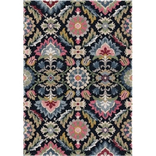 "Link to Orian Grand Tapis Majestic Palace Prussian Blue Area Rug - 6'7"" x 9'6"" Similar Items in Rugs"