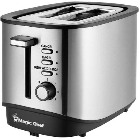 Magic Chef 2-Slice Toaster in Stainless Steel/Black