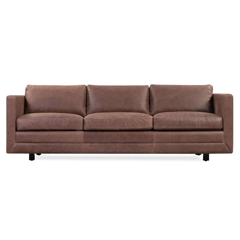 Kardiel Mid Century Manhattan 85 Leather Sofa Width 85 X Depth 37 8 X Height 31 1