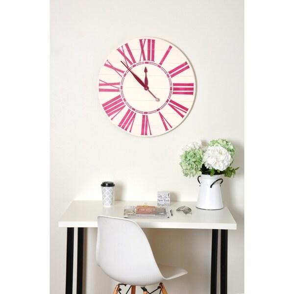 Bold Sangria Oversized Wall Clock