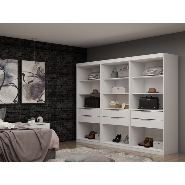 Mulberry Open 3 Sectional Modem Wardrobe Closet with 6 Drawers