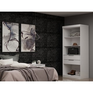 Mulberry Open 1 Sectional Modern Armoire Wardrobe Closet