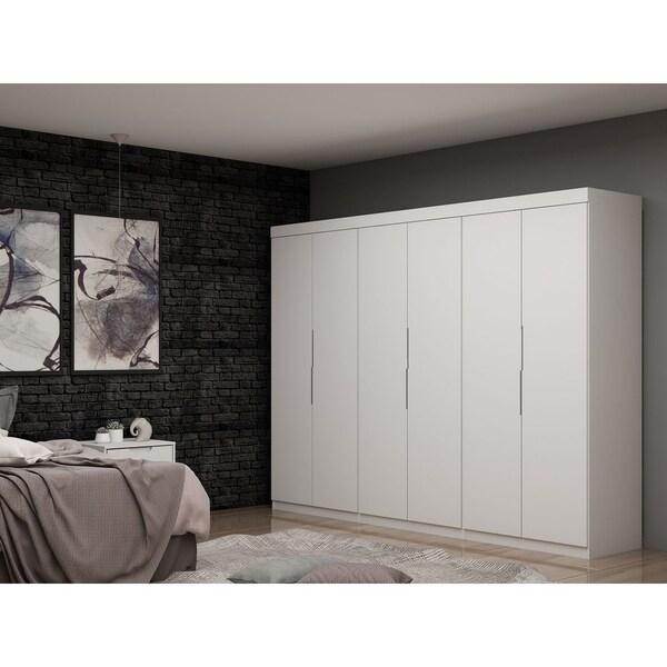 Mulberry 2.0 Modern 3 Sectional 6 Drawer Wardrobe Closet Set of 3