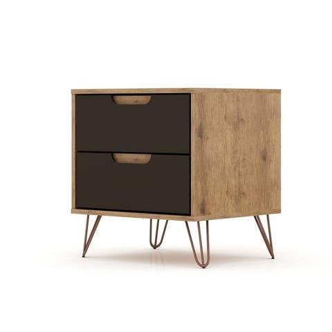 Carson Carrington Ladkolen Mid-century Modern 2 Drawer Wood Nightstand