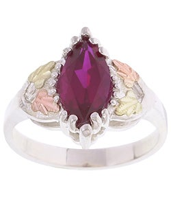 Black Hills Gold and Silver Created Ruby Ring