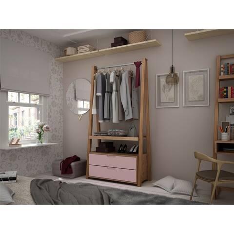 Carson Carrington Batels Open Wardrobe Armoire Closet
