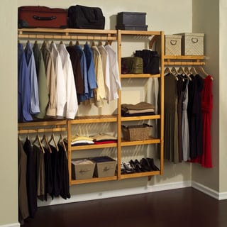 Shop John Louis Standard Solid Wood Closet System Free