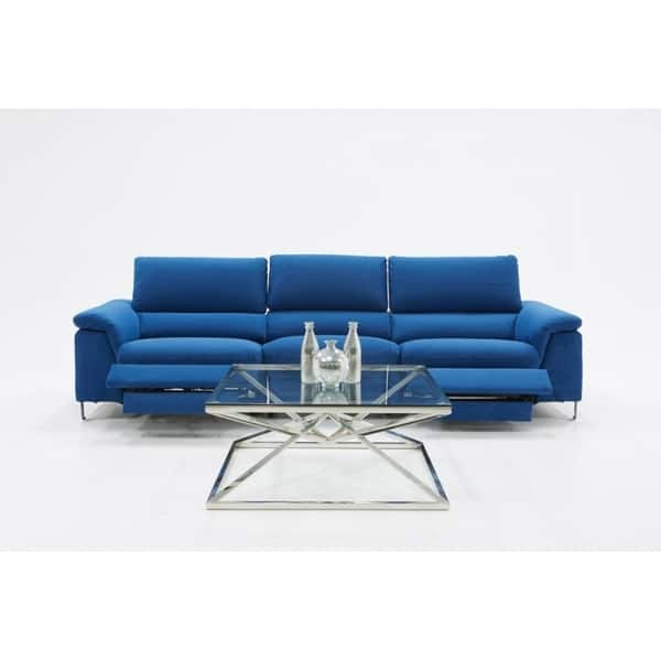 Enjoyable Shop Divani Casa Maine Modern Blue Fabric Sofa W Electric Gmtry Best Dining Table And Chair Ideas Images Gmtryco