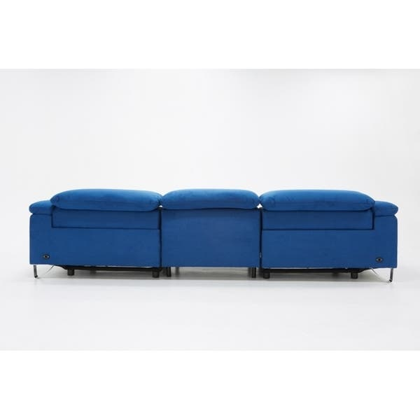 Awesome Shop Divani Casa Maine Modern Blue Fabric Sofa W Electric Gmtry Best Dining Table And Chair Ideas Images Gmtryco