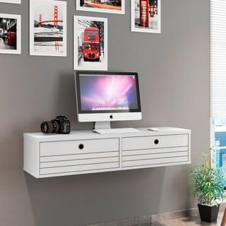 Link to Carson Carrington Torsby Modern 2-shelf Floating Office Desk Similar Items in Computer Desks