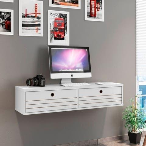 Carson Carrington Torsby Modern 2-shelf Floating Office Desk