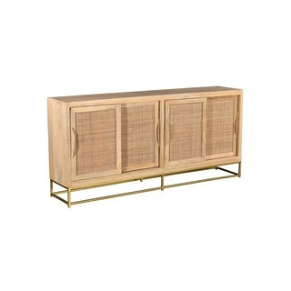 Bengal Manor Natural Cane 4 Sliding Door Sideboard