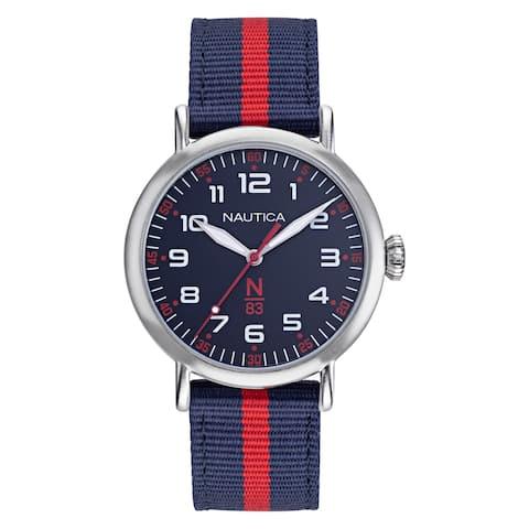 Nautica N83 NAPWLF922 Wakeland Navy/Red Fabric Strap Watch