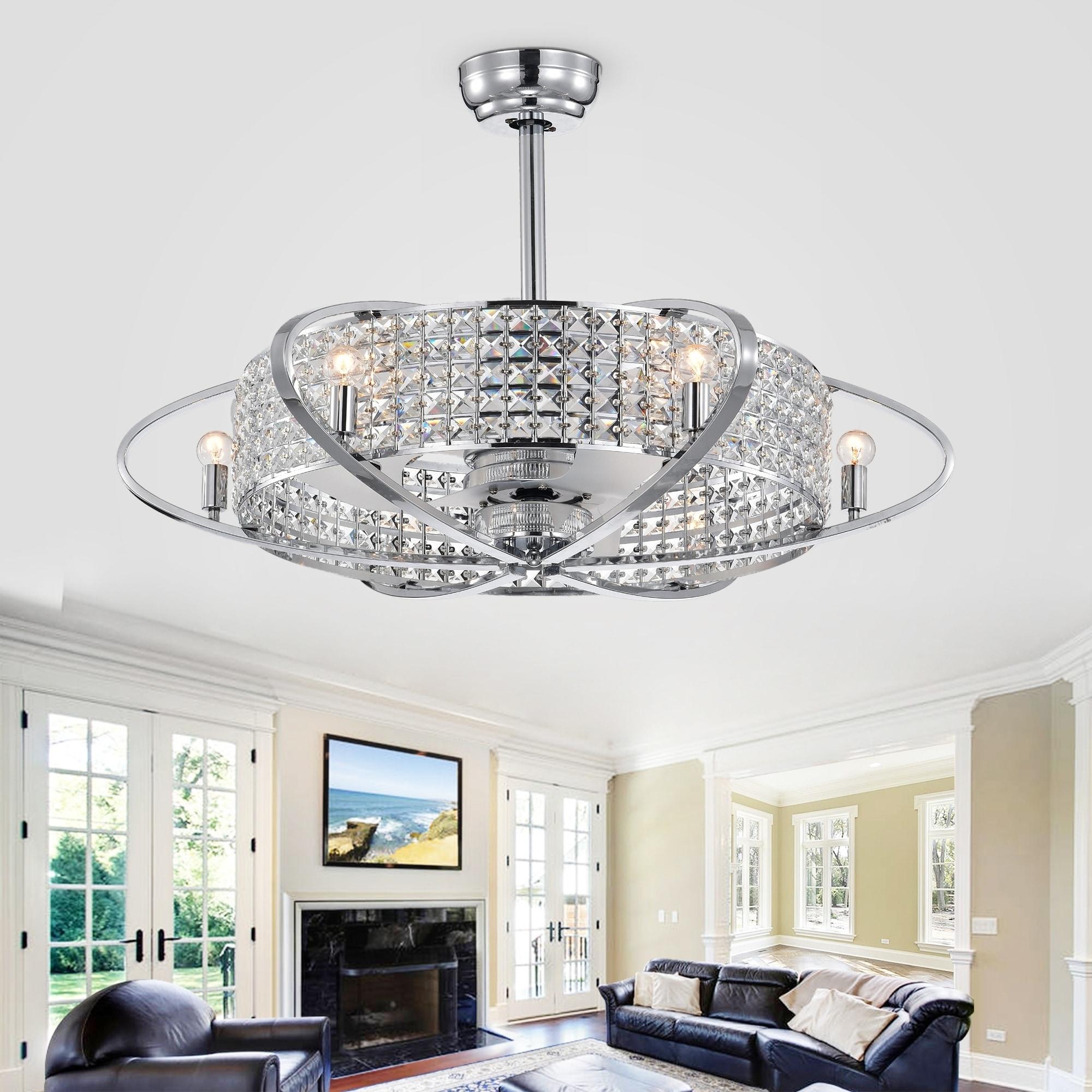 33 Inch Fandelier Lighted Ceiling Fan